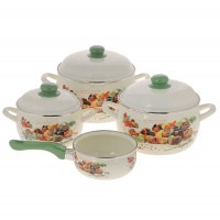 Набор эмалированной посуды Metrot Пикник, ковш 1,3 л в подарок