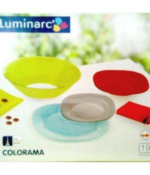 Столовый сервиз Colorama Blue 19 пр Luminarc