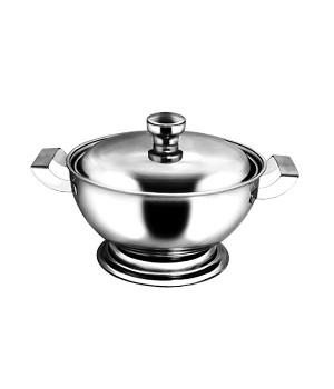 Супница нержавеющая 2,0 л, 20 см, металлическая крышка