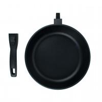 Сковорода литая алюминиевая СОЮЗ ТН, 20 см, ADIMANTIUM, чёрный, ручка съёмная