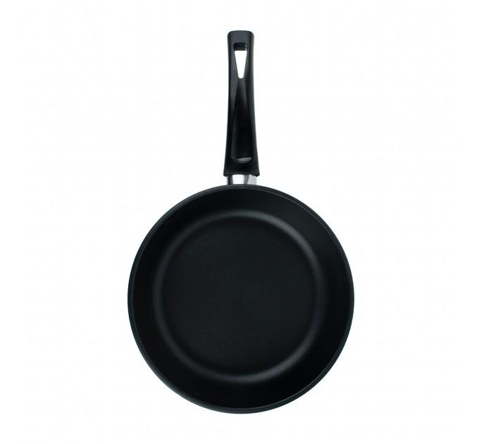 Сковорода литая алюминиевая СОЮЗ ТН, 20 см, ADIMANTIUM, чёрный, ручка несъёмная
