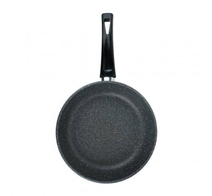 Сковорода литая алюминиевая СОЮЗ ТН, 26 см, CILICOL CERAMIC, серый гранит, ручка несъёмная