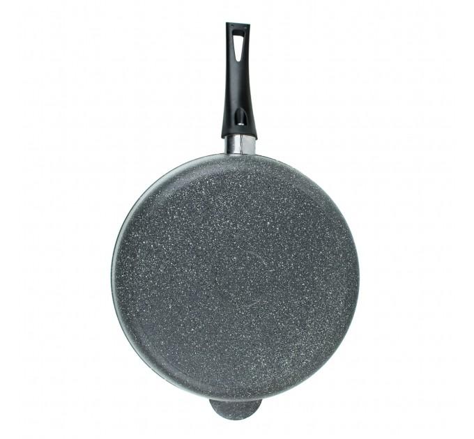 Сковорода литая алюминиевая СОЮЗ ТН, 28 см, CILICOL CERAMIC, серый гранит, ручка несъёмная