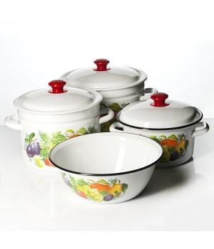 Набор посуды Джем-1, 4 пр КМК Керчь, коричневый