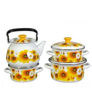 Набор посуды Солнечная долина, 4 пр КМК Керчь, белый