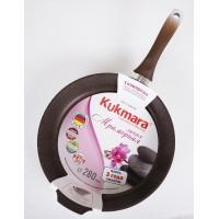 Сковорода 28 см Кофейный мрамор Kukmara