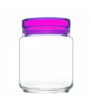 Банки luminarc колорлишэс с фиолетовой крышкой для сыпучих 0,75 л
