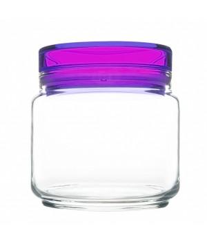 Банки luminarc колорлишэс с фиолетовой крышкой для сыпучих 0,5 л
