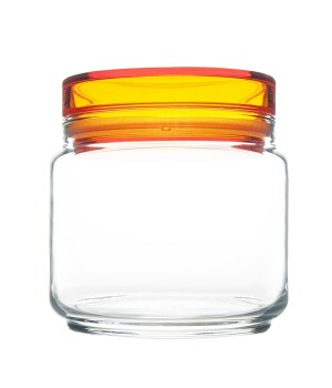 Банки luminarc колорлишэс с оранжевой крышкой для сыпучих 0,5 л
