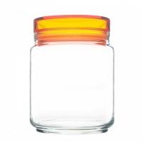 Банки luminarc колорлишэс с оранжевой крышкой для сыпучих 0,75 л