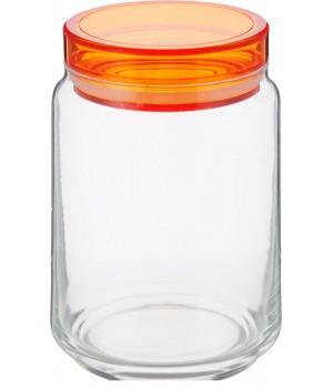 Банки luminarc колорлишэс с оранжевой крышкой для сыпучих 1 л