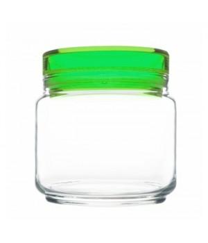 Банки luminarc Колорлишэс с зеленой крышкой для сыпучих 0,5 л
