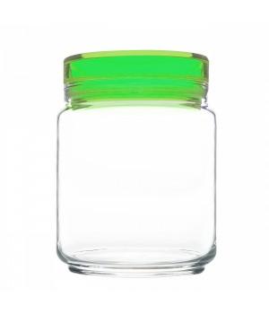 Банки luminarc Колорлишэс с зеленой крышкой для сыпучих 0,75 л