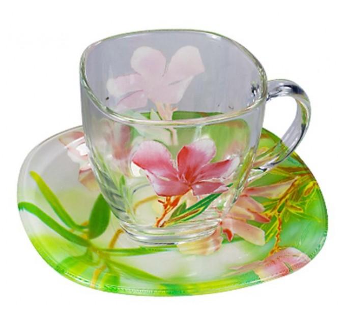 Чайный сервиз зеленый Фрезия 220 мл