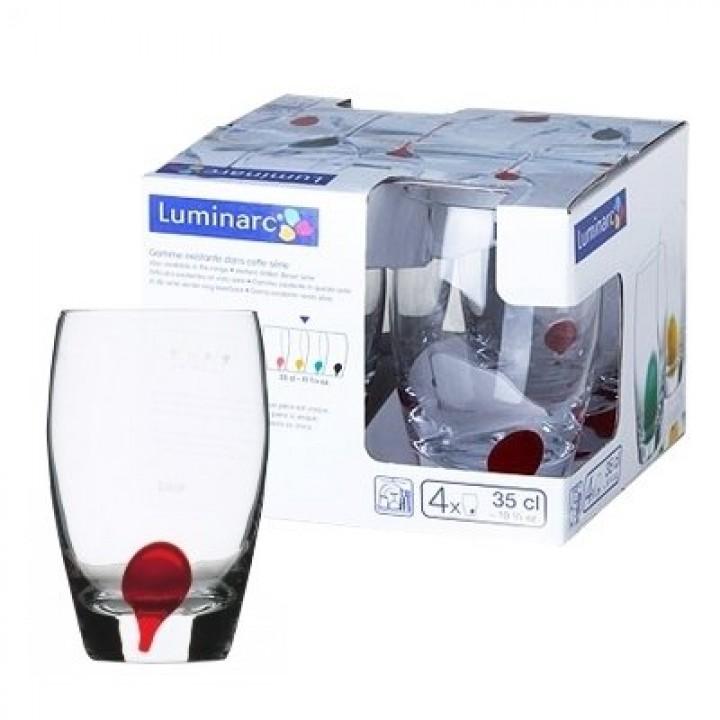 Набор стаканов Luminarc DRIP ROUGE высокие 350 мл 4 шт