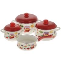 Набор эмалированной посуды Metrot Варенье, ковш 1,5 л в подарок