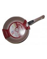 Сковорода 26 см коричневый мрамор Наша Посуда съемная ручка