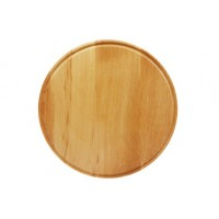 Доска кухонная бук большая круглая 300 мм