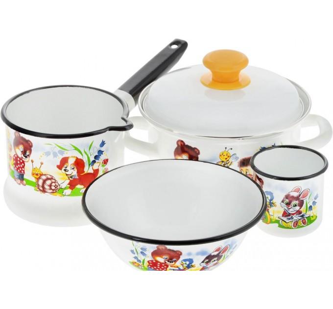Детская посуда Улыбка 4 пр Керчь