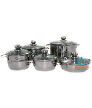 Набор посуды из нержавейки Классика-Прима 5 пр Амет