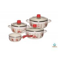 Набор эмалированной посуды Metrot Кофейная кантата, ковш 1,3 л в подарок