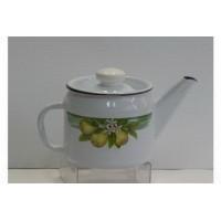Чайник эмалированный 1 л заварочный с рисунком лимоны