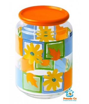 Люминарк Банка для сыпучих продуктов с крышкой Рондо Валенсия 1 л