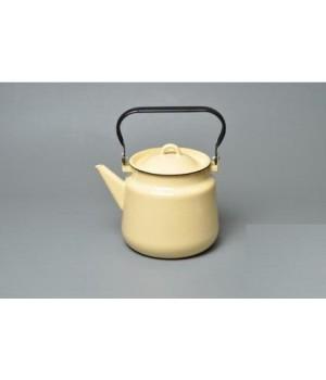 Чайник эмалированный Кремовый 3,5 л Стальэмаль