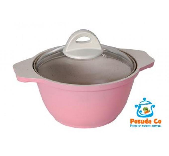 Кастрюля 1 л Kukmara Палитра розовая