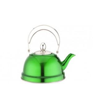 Чайник заварочный нержавейка 0,7 л зеленый