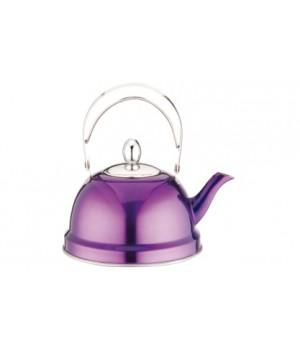 Чайник заварочный нержавейка 0,7 л фиолетовый