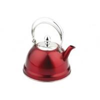 Чайник заварочный нержавейка 0,7 л красный