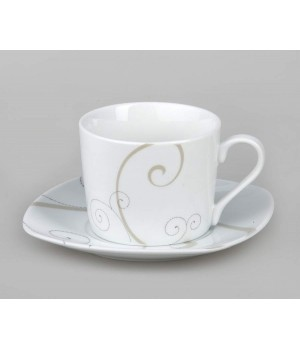 Белый чайный сервиз Caress Modern 250 мл Domenik