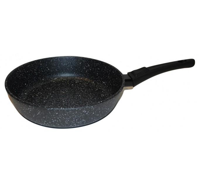 Сковорода 26 см Наша Посуда Мрамор со съёмной ручкой