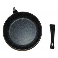 Сковорода 20 см Наша Посуда Мрамор со съёмной ручкой