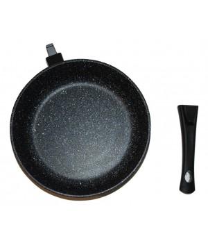 Сковорода 24 см Наша Посуда Мрамор со съёмной ручкой