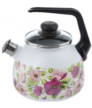Чайник со свистком 3,0 л Violeta белый Vitross