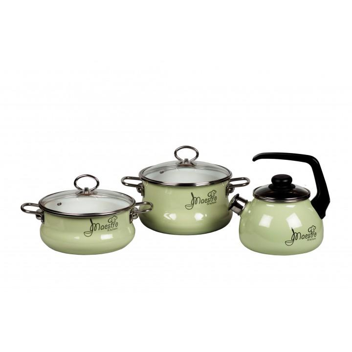 Набор эмалированной посуды Maestro №18 Vitross с чайником