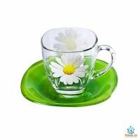 Чайные сервизы Люминарк Ромашка зеленая