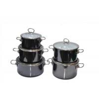 Набор эмалированных кастрюль Bon Appetit 5 пр Vitross мокрый асфальт