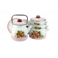 Набор посуды Цветущий шиповник 4 пр